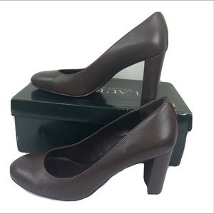 Lauren Ralph Lauren Marshal Heel Leather Brown 7.5